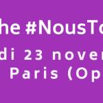 Marche #NousToutes « Stop aux violences sexistes et sexuelles »